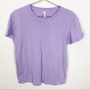 American Apparel l Lavender Crew Neck T-shirt